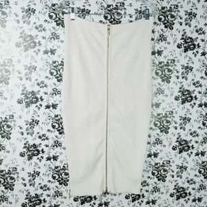Guess ribbed full zip front bandage pencil skirt
